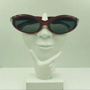 Calvin Klein CK3006 Red Oval Sunglasses Frames
